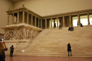 A reconstruction of the Pergamon Altar.