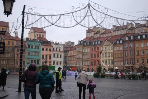 A square in the Old Town district, Warsaw.