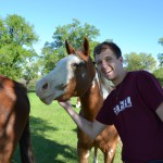 Kyle made a new friend at the Dyck ranch.