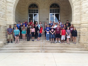 Group photo of campers and counselors at Summer Science Institute 2015